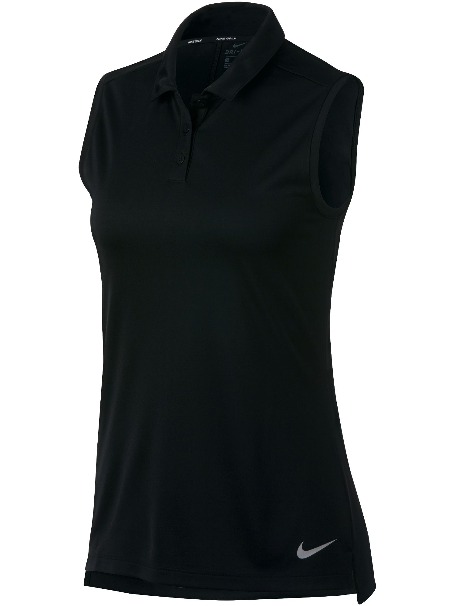 Nike Golf Dry Sleeveless Polo, Black