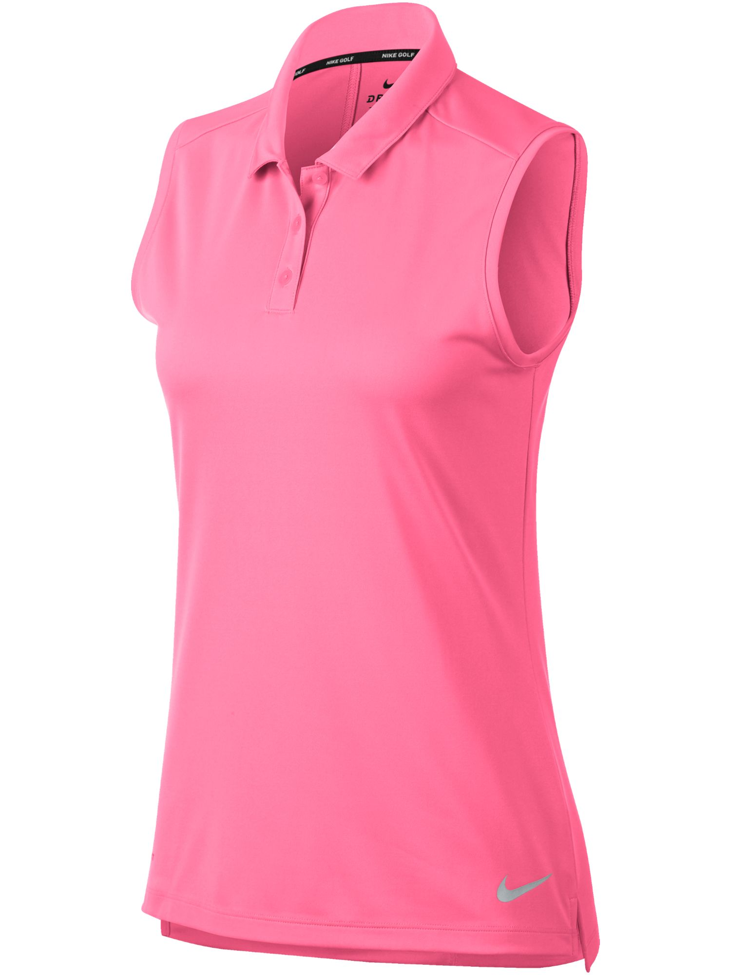 Nike Golf Dry Sleeveless Polo, Pink Silverlic