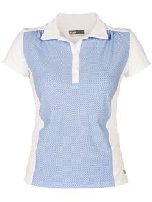 Ditsy short sleeved polo