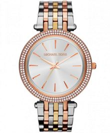 Michael Kors MK3203 Darci Tri Tone Ladies Bracelet Watch