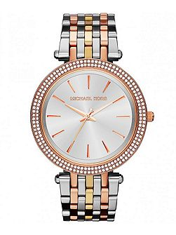 MK3203 Darci Tri Tone Ladies Bracelet Watch