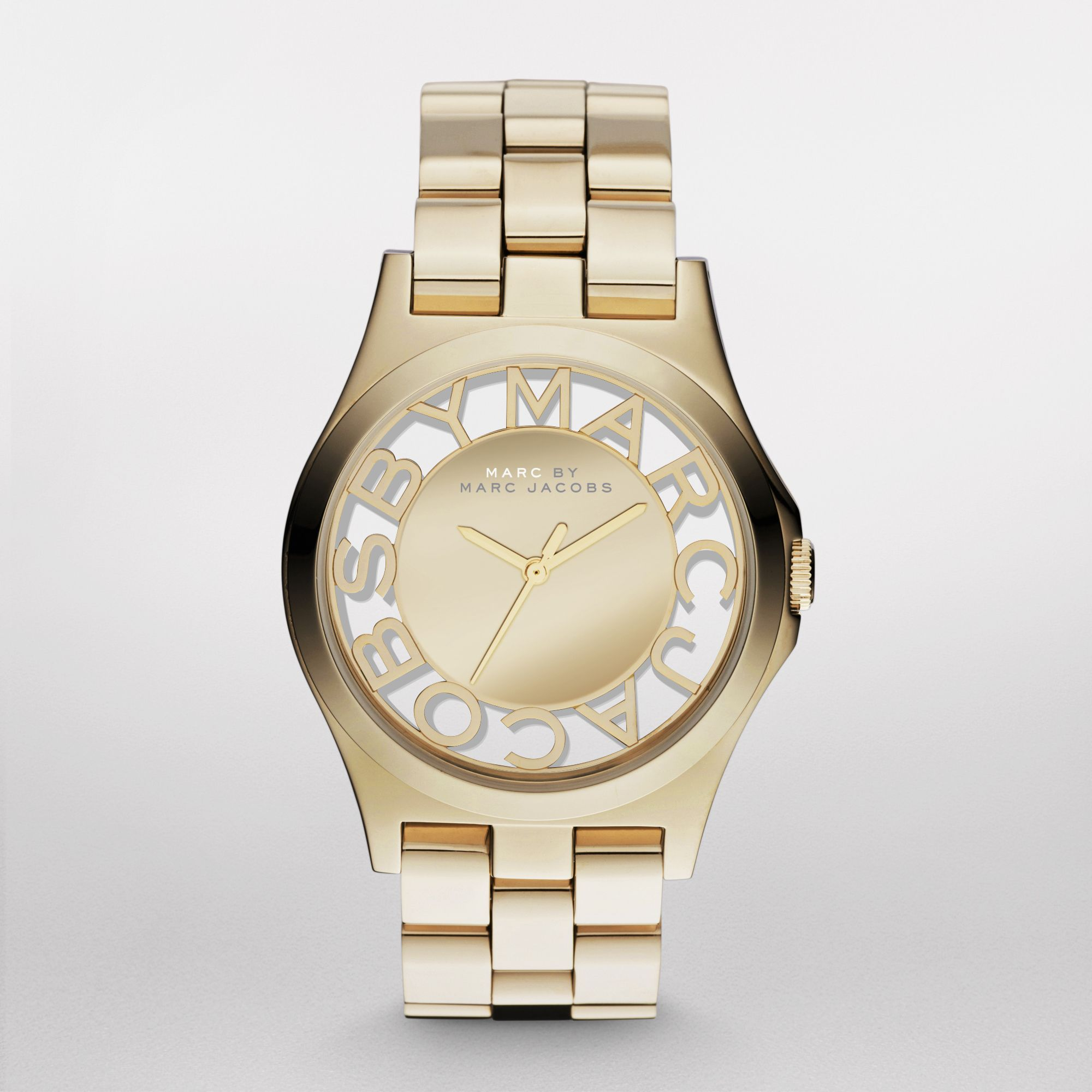 Mbm3206 skeleton ladies gold bracelet watch
