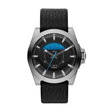 Arges Black Leather Mens Watch