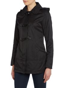 Toggle jacket with detachable hood