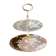 Wedgwood Daisy tea story cake stand 2 tier
