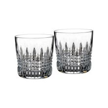 Wedgwood Lismore clear diamond tumbler, set of 2