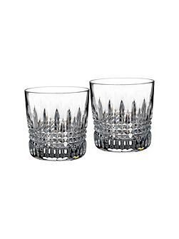 Lismore clear diamond tumbler, set of 2