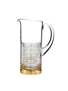Mixology circon pitcher with gold band