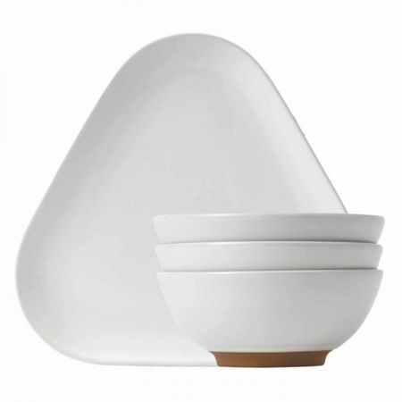 Royal Doulton Barber and Osgerby Olio White Snack Set