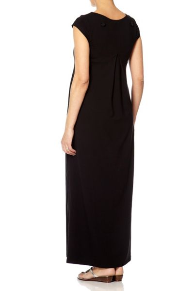 Bibee Maternity Pleated front maxi day dress