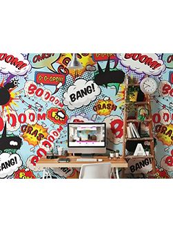 Kissing Pop Art Comic Wall Mural