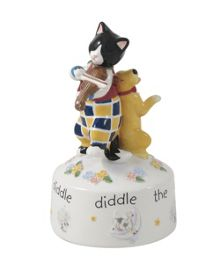 Aynsley Nursey rhymes cat and fiddle music box