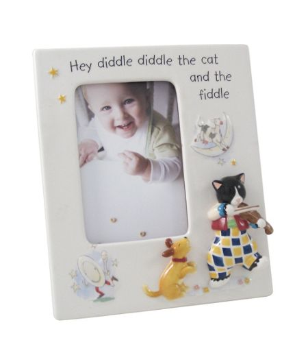 Aynsley Cat and the Fiddle photoframe