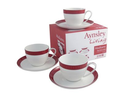 Aynsley Madison four teacups and saucers