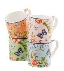 Aynsley Cottage garden windsor mugs (set of 4)