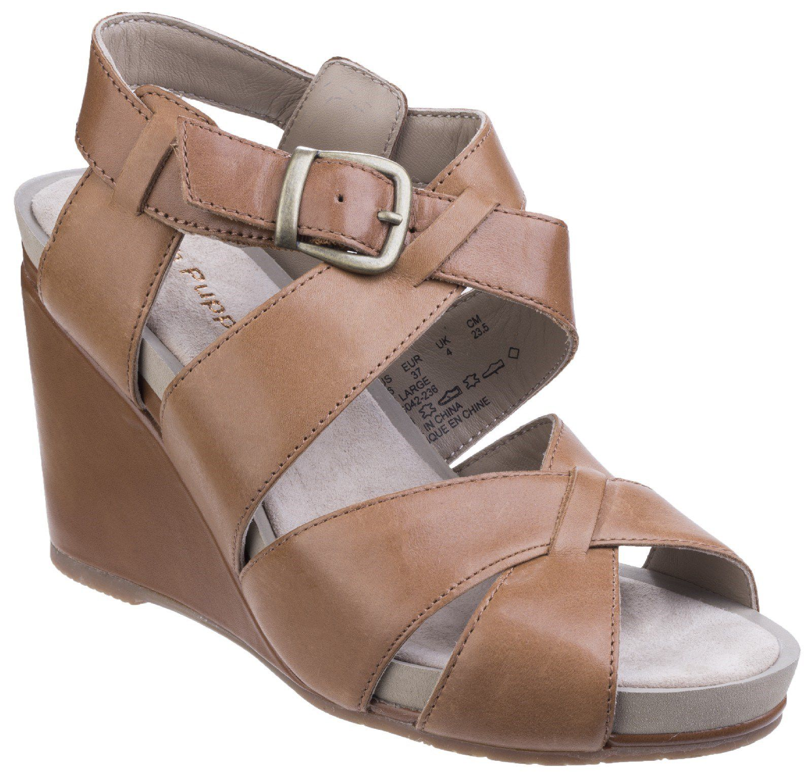 Hush Puppies Fintan montie buckle sandals Tan
