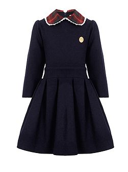 Girls: Sarah`s Navy Pleat Dress