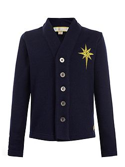 Boys: Stephen`s Navy Star Cardigan