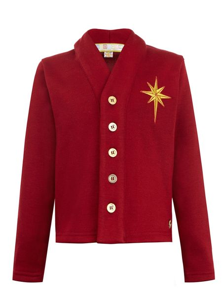Star51 Boys: Stephen`s Maroon Star Cardigan