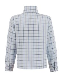 Star51 Boys: James`s Collarless Blue Country Shirt