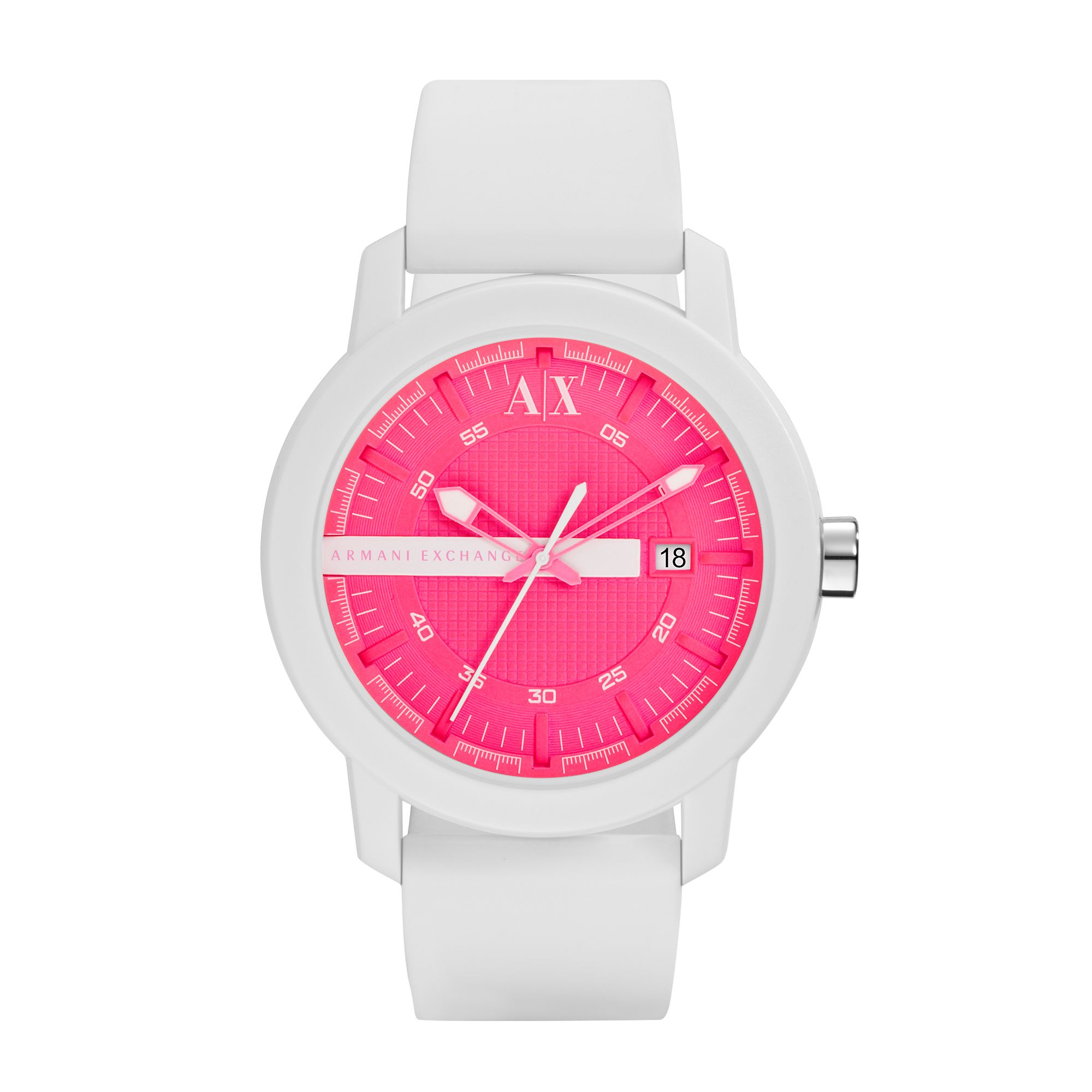 AX1240 Active White Silicone Unisex Watch
