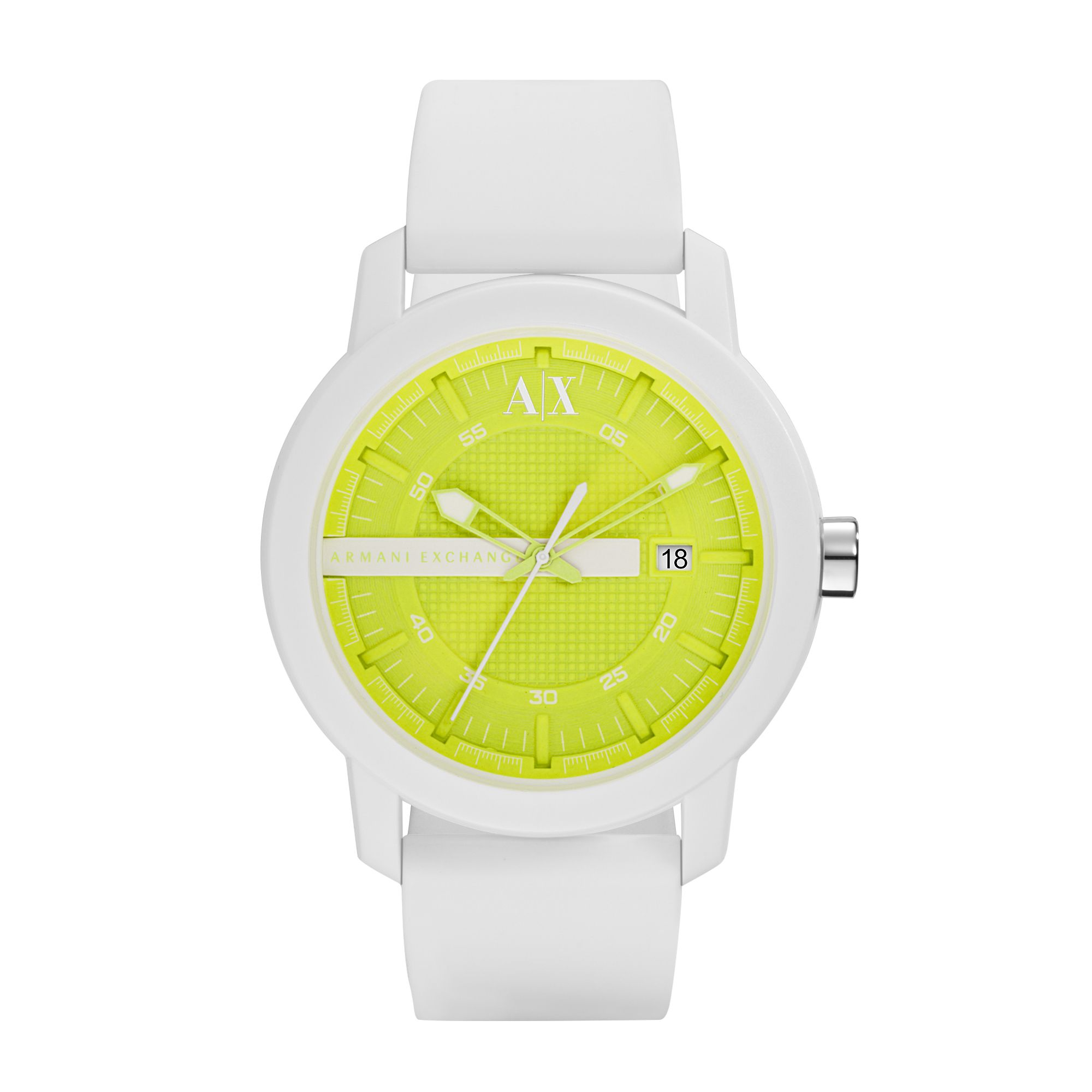 AX1241 Active White Silicone Unisex Watch