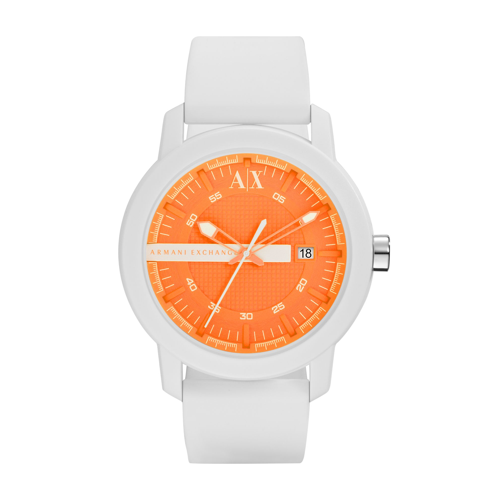 AX1242 Active White Silicone Unisex Watch