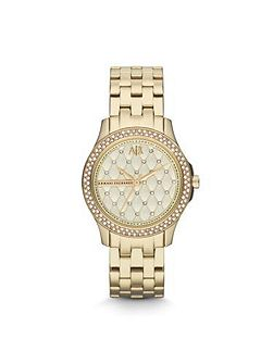 AX5216 SMART gold stainless steel ladies watch