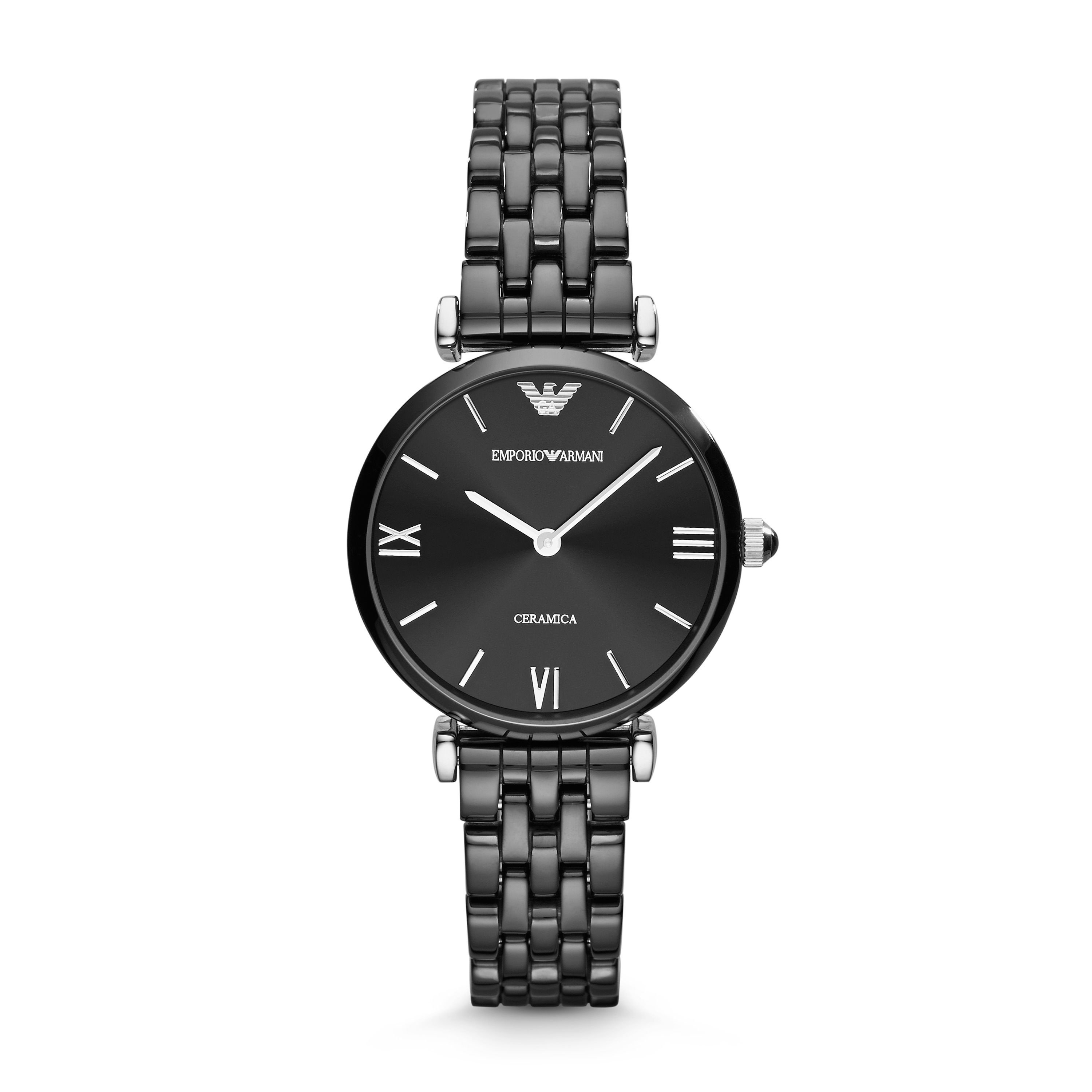 AR1487 Ceramic Black Ladies Bracelet Watch