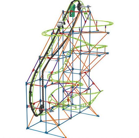 Knex Typhoon Frenzy Roller Coaster Building