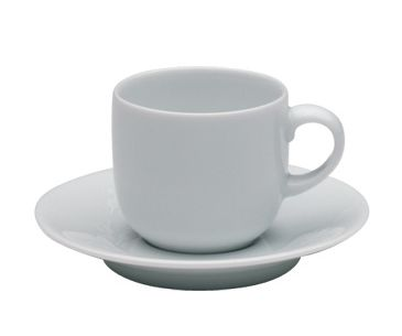 White trace coffee saucer