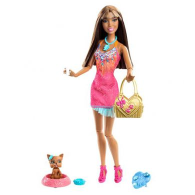 Barbie Fashionistas Nikki Doll And Pet