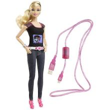 Photo fashion doll with built-in camera