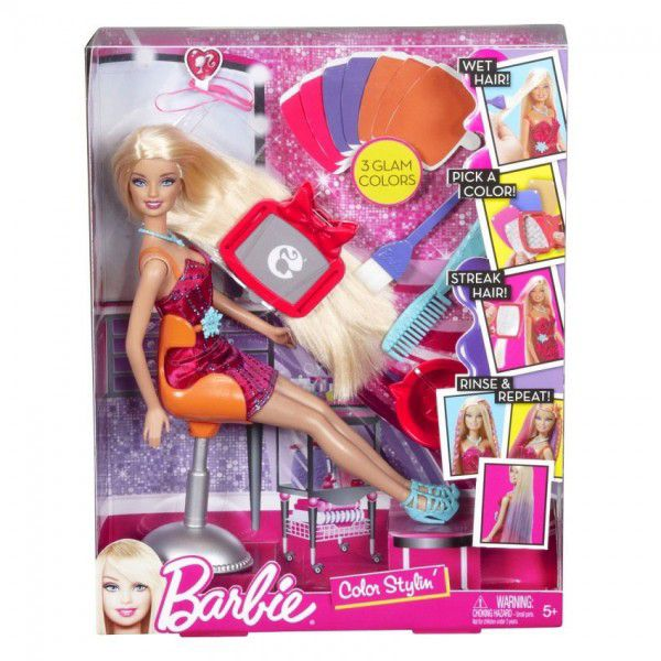Barbie colour styling hair doll