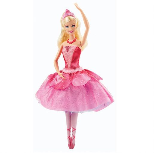 Barbie in pink shoes ballerina doll