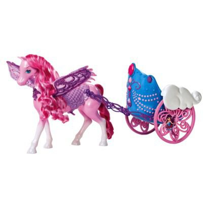 Barbie pegasus horse & carriage