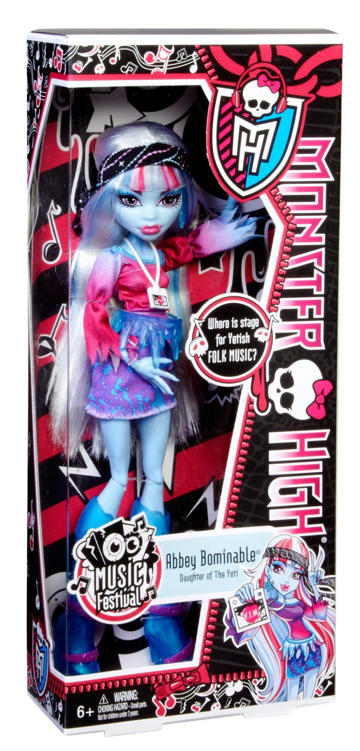 Monster High Abbey Bominable Music Festivaldoll