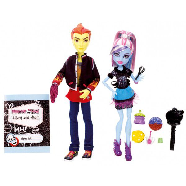 Monster High Heath Burns & Abbey Bominable Classr