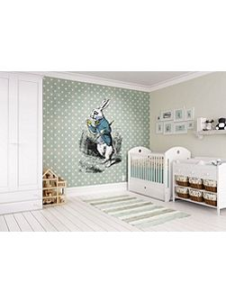 Alice In Wonderland White Rabbit Wall Mural