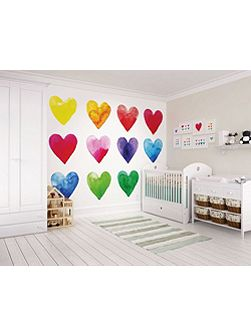 Bright Colour My Heart Wall Mural