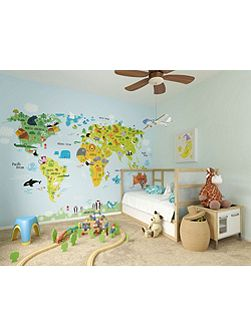 Kids The Whole Wide World Wall Mural