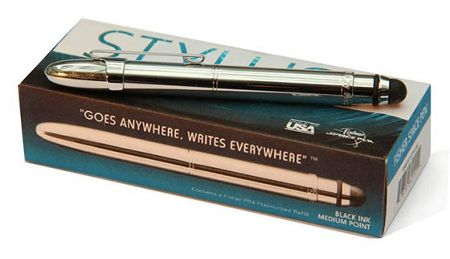 Fisher Space Pen Delux grip ball pen with stylus including clip