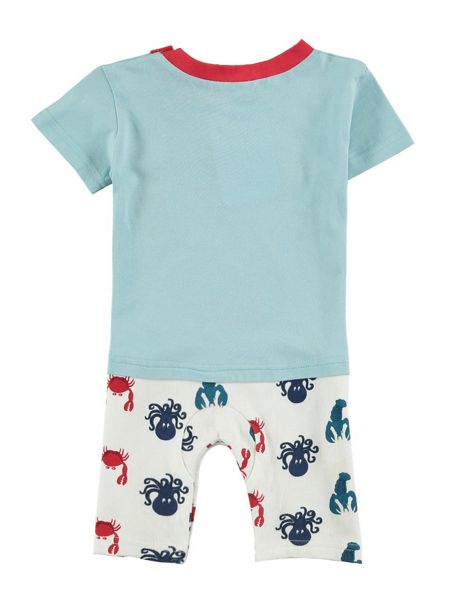 Rockin' Baby Crab Applique Shorty Footless All-in-One