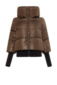Carolina Cavour Down Solid Jacket With Funnel Neck