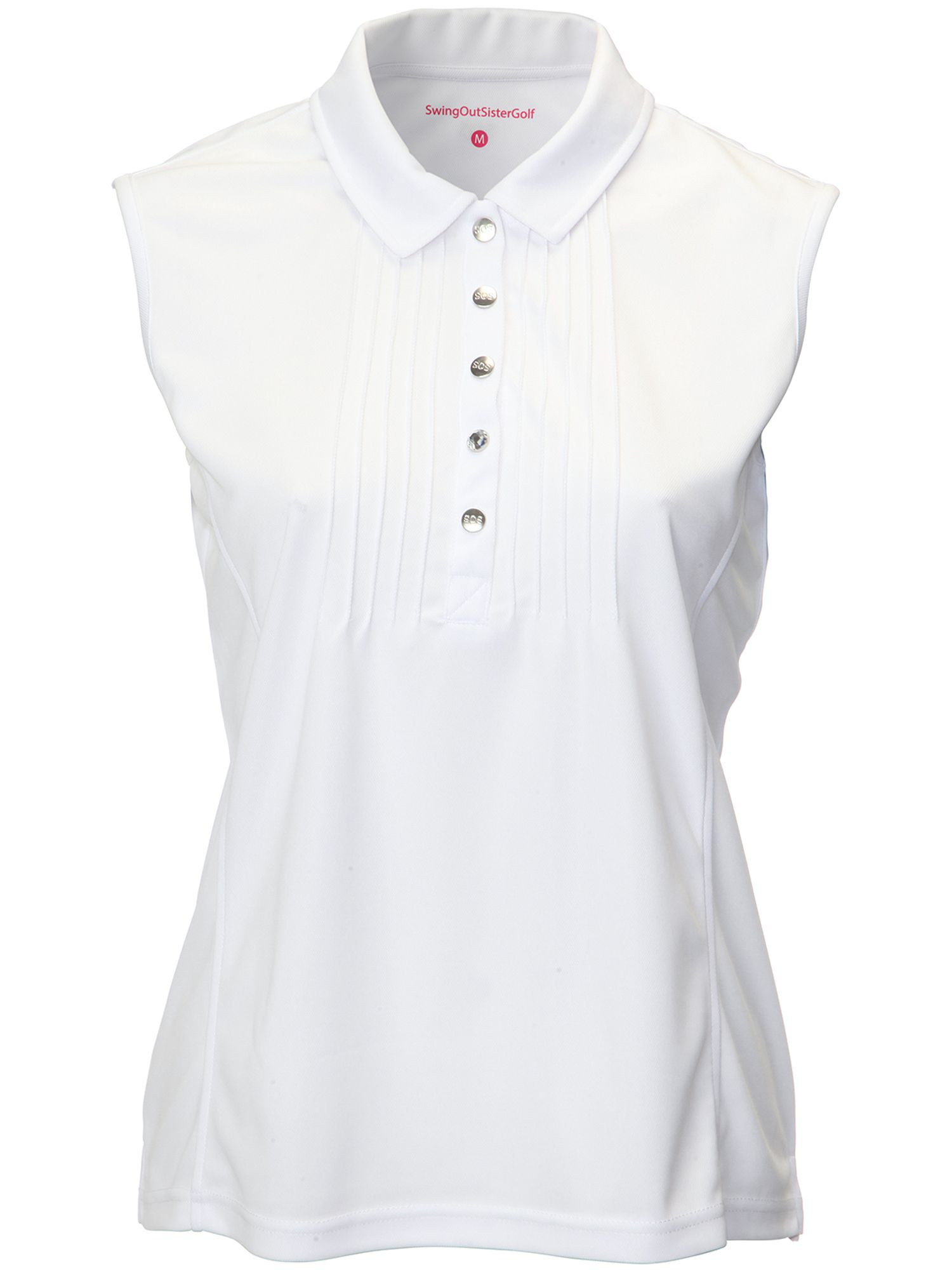 Swing Out Sister Adele Pique Sleeveless Shirt, White