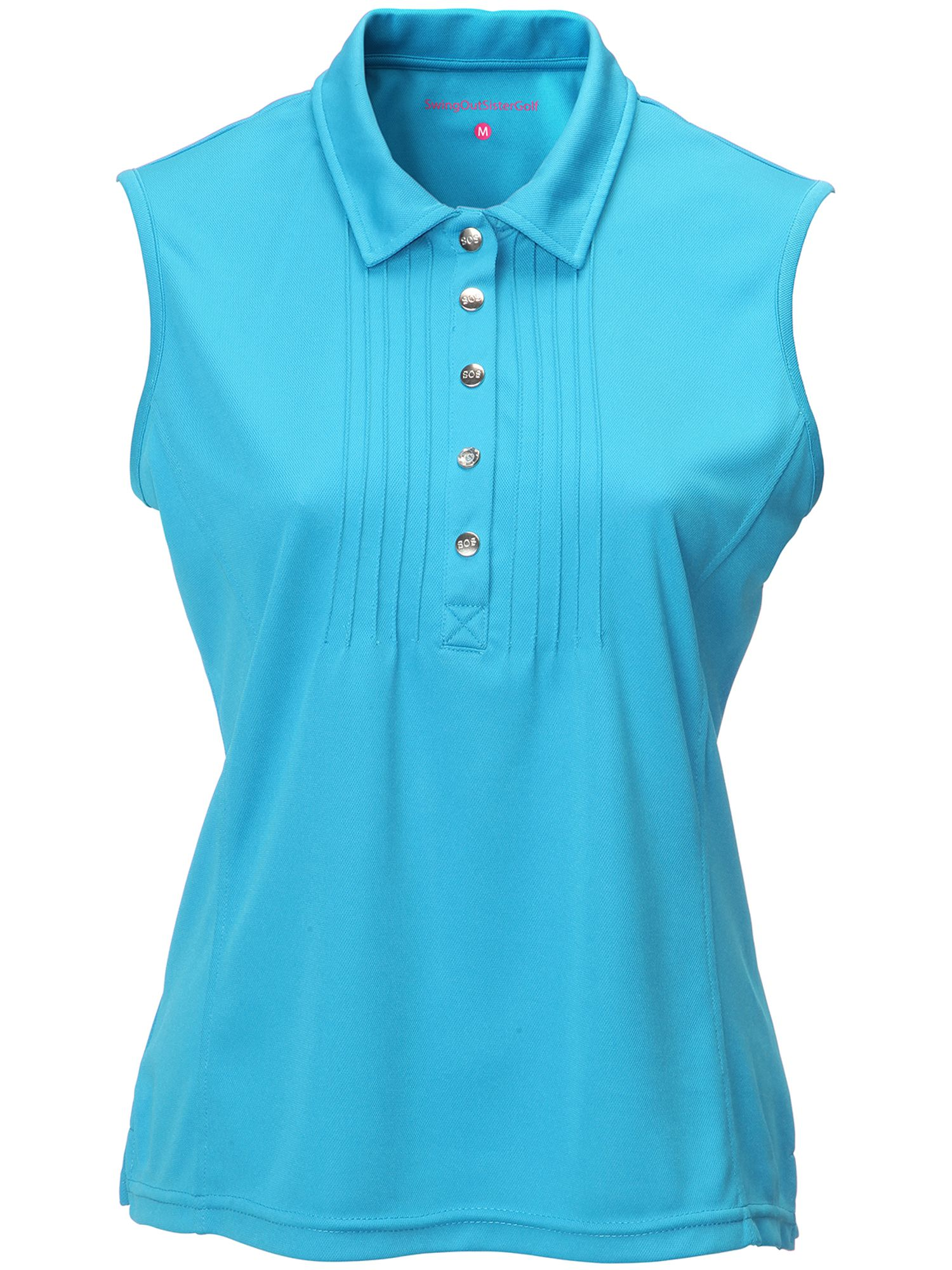 Swing Out Sister Adele Pique Sleeveless Shirt, Blue
