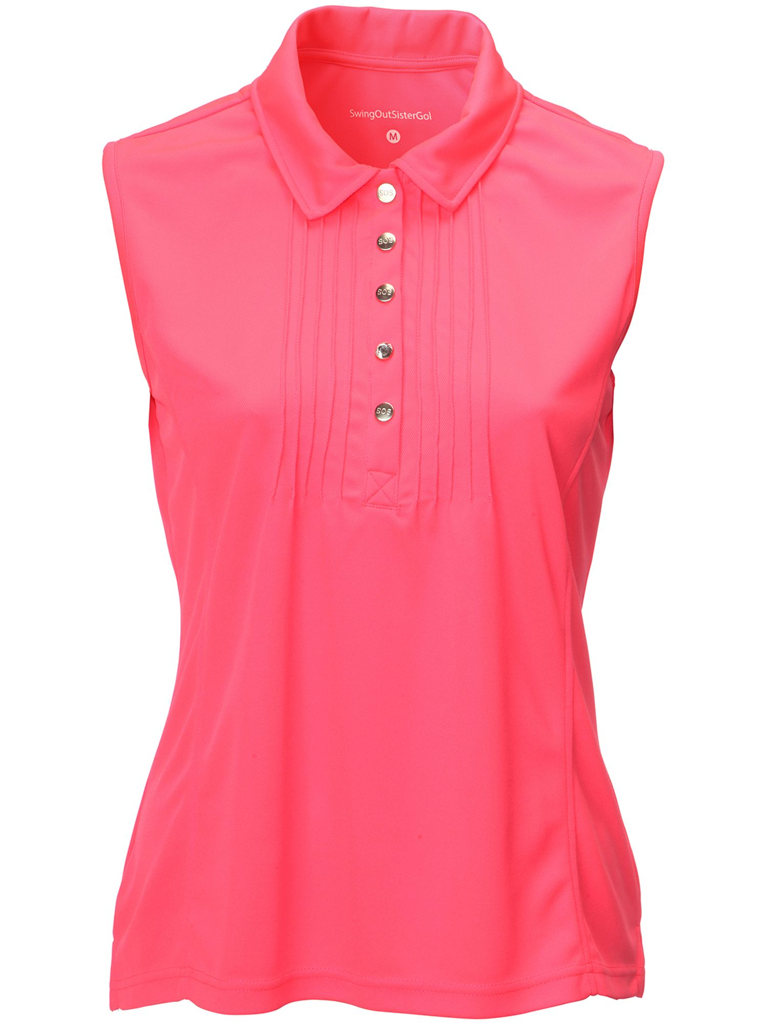 Swing Out Sister Adele Pique Sleeveless Shirt, Pink