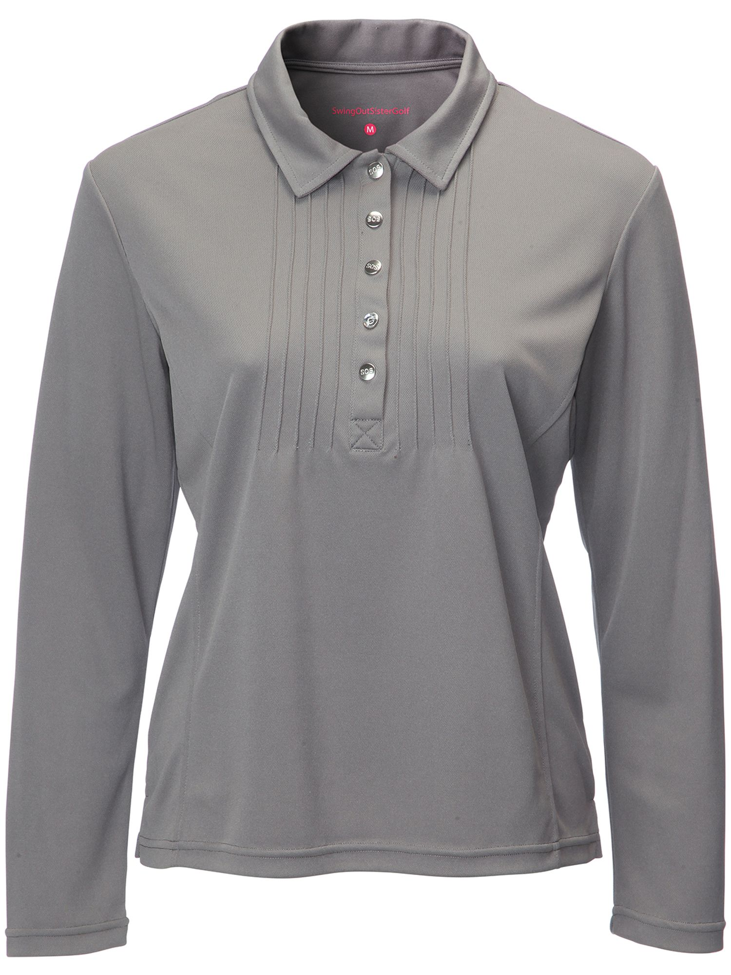 Swing Out Sister Whitney Pique Long Sleeve Shirt, Grey