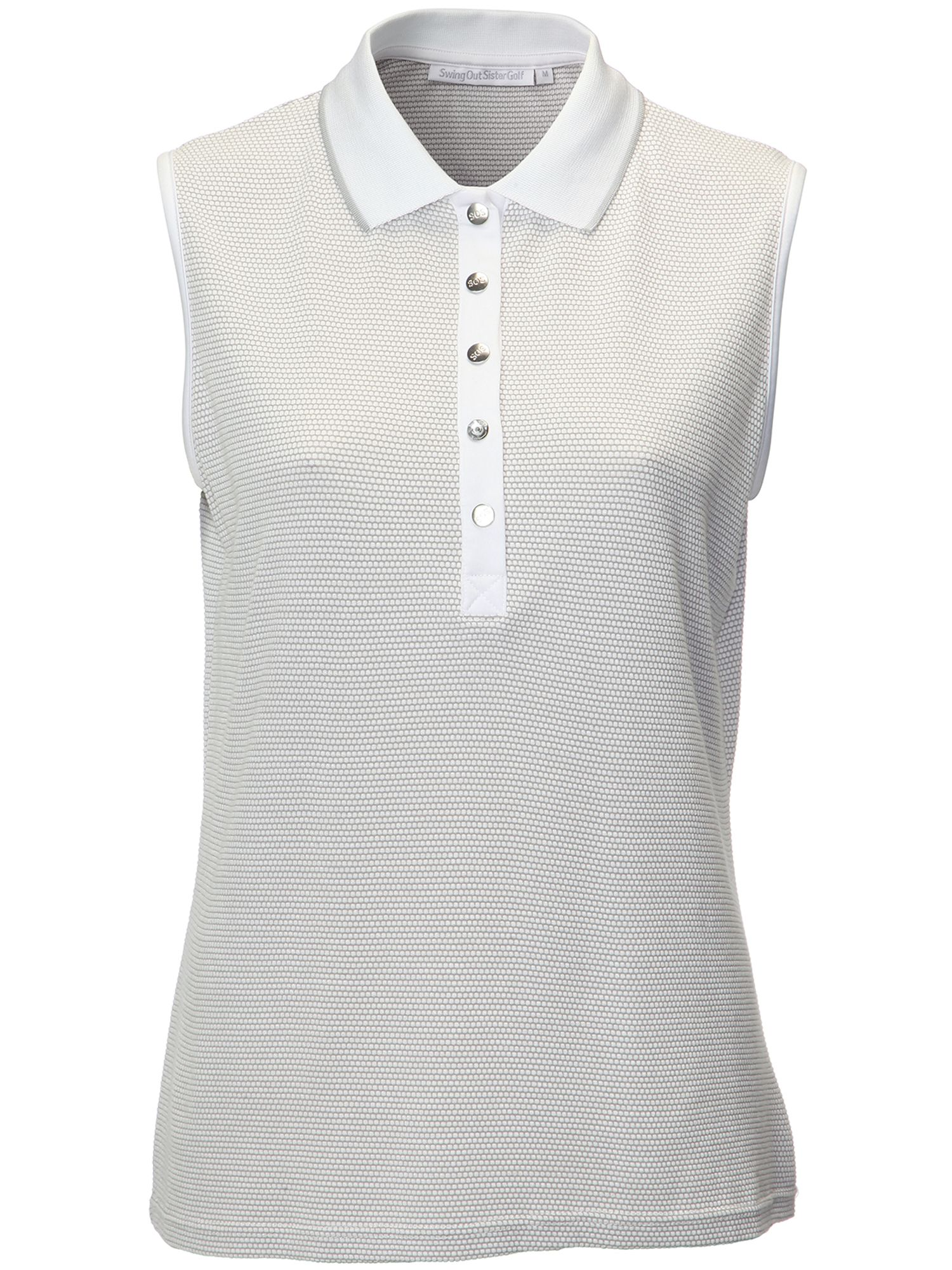 Swing Out Sister Tina Woffle Sleeveless Shirt, Grey