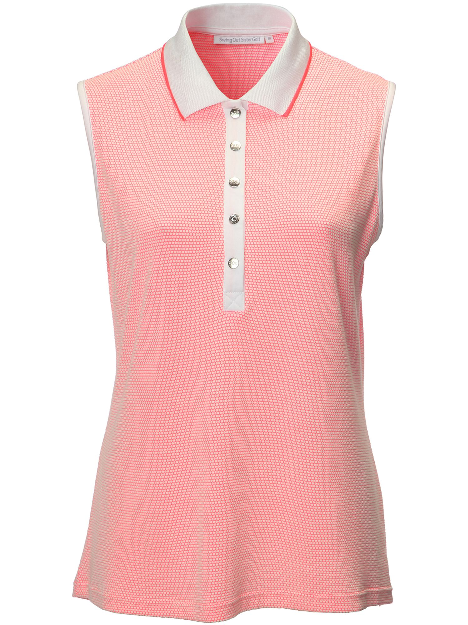 Swing Out Sister Tina Woffle Sleeveless Shirt, Pink
